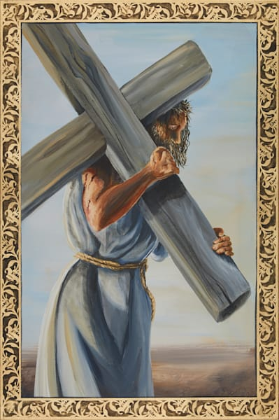 Second Station of the Cross painting by Holly Whiting