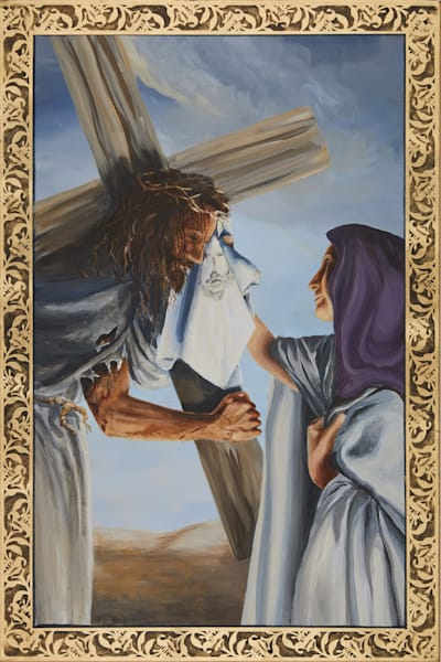Sixth Station of the Cross painting by Holly Whiting