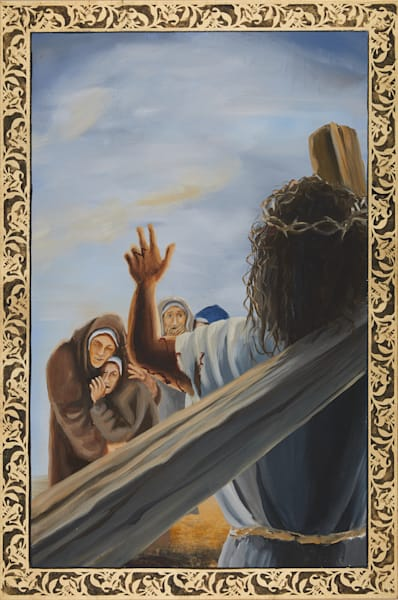 Eighth Station of the Cross painting by Holly Whiting