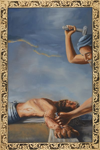 Eleventh Station of the Cross Painting by Holly Whiting