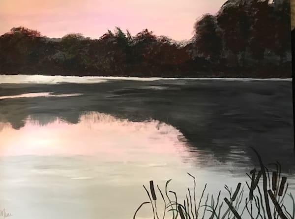 Pink Sunset Lake