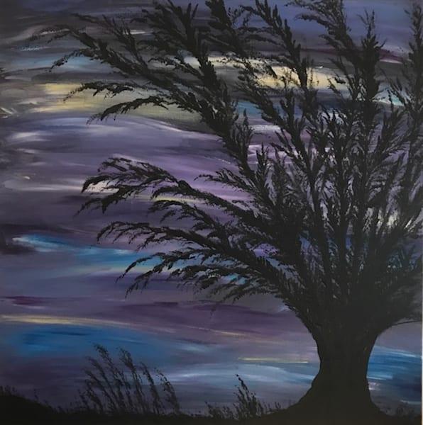 Purple Silhouette Tree