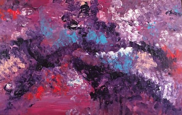 purple rhythmic abstract