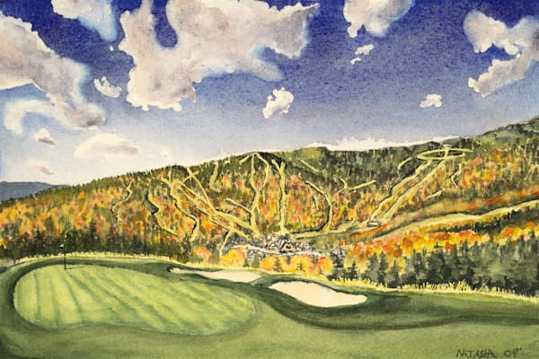 'Stowe Vermont Golf' Art for Sale