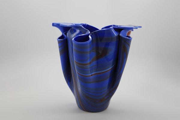 Blue & Red Vase