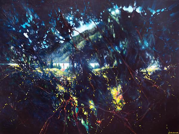 a dark painting