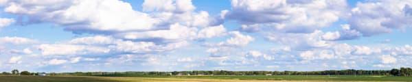 Sky with farm scene  (railroad background)