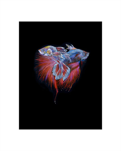 Japanese Fighting Fish painting