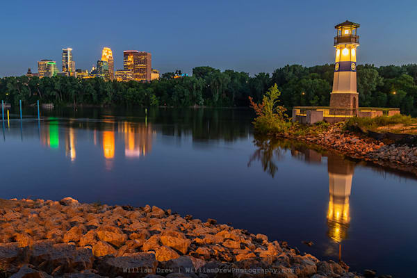 Boom Island Reflection - Minneapolis Wall Murals | William Drew