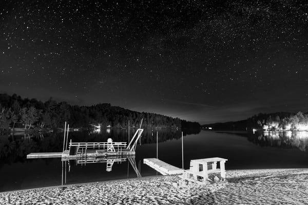 Long Lake Beach B&W