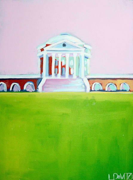 Shop Lsli DeVito original acrylic paintings uva rotunda in pink