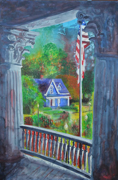 View From The Russ House Art | Michele Tabor Kimbrough