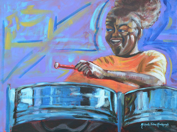 Steelpannist   Crucian Carnival Series Art | Michele Tabor Kimbrough