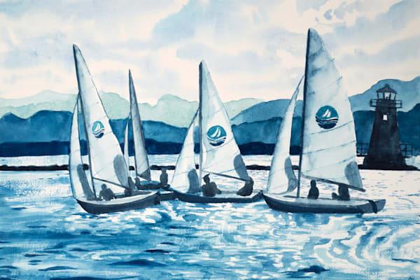 'Lake Champlain Sailing' Art for Sale