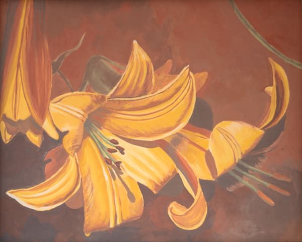Copper Lily Art for Sale