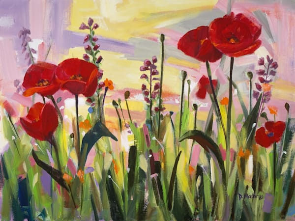 Poppies at Sunset by Diana Madaras