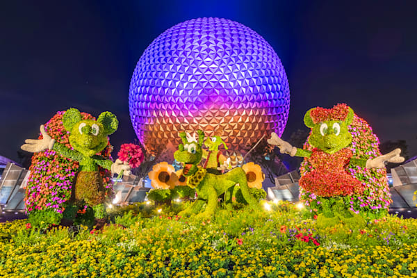 Spaceship Earth at Night 7 - Epcot Art | William Drew