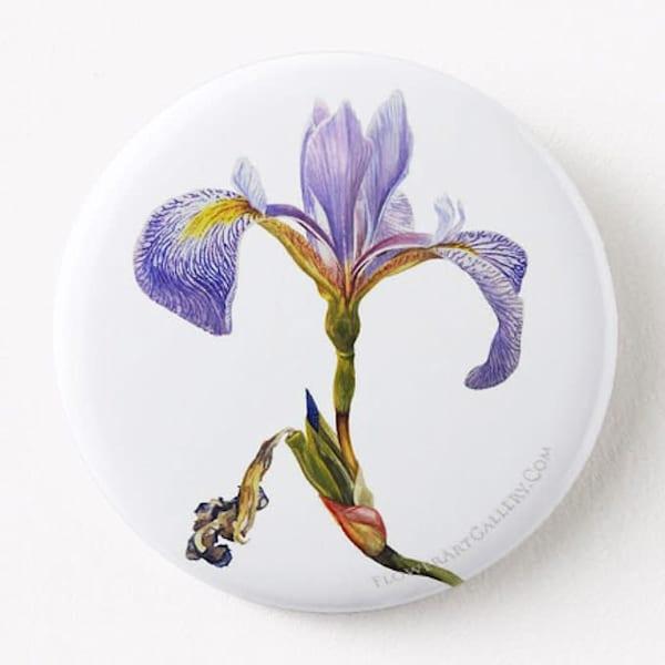 Blue Flag Iris Button
