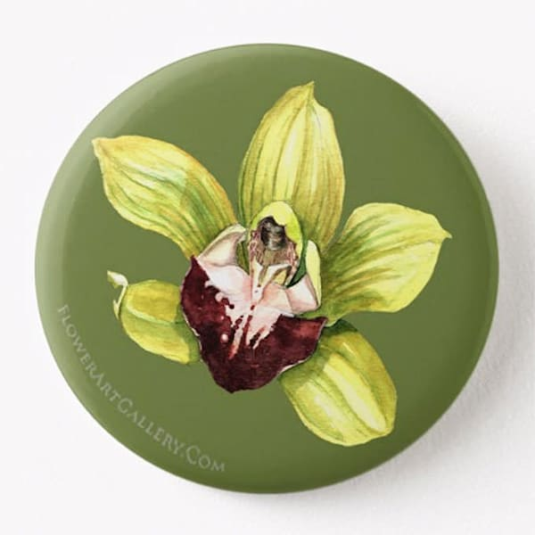 Cymbidium Orchid Button