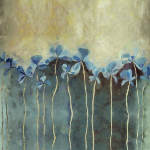 Blue Flowers Square | Cynthia Decker