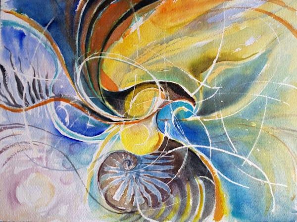 Cormorant And Nautilus Art | Bright Spirit Studio