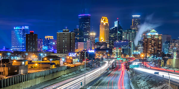 Minneapolis Superbowl Colors 3 - Minneapolis Wall Murals | William Drew