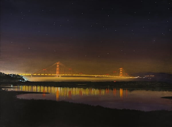 Golden Gate Bridge at Night from Crissy Field Marcs