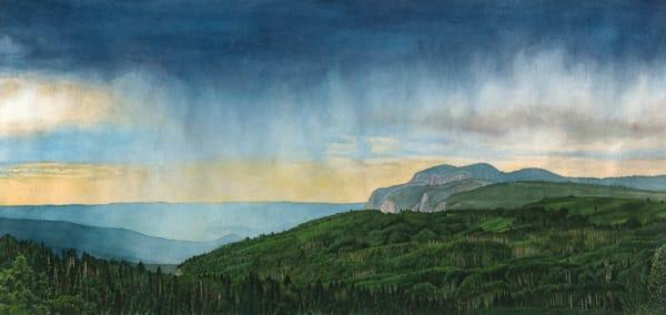 brazos cliffs, landscape, new mexico, tierra amarilla, watercolor, painting