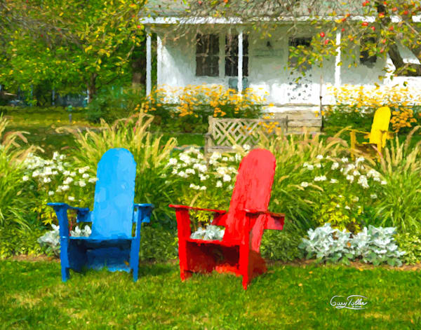 Basin Harbor Garden Side Photography Art | Gary Tobler Fine Art