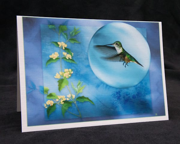 Hummingbird Blues fine art card