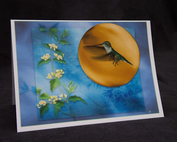 Gold Hummingbird photograph art