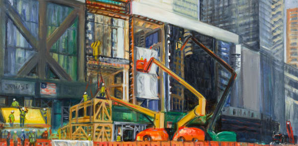 Print of 53W53 Street and MoMA Extension, June Afternoon 2018