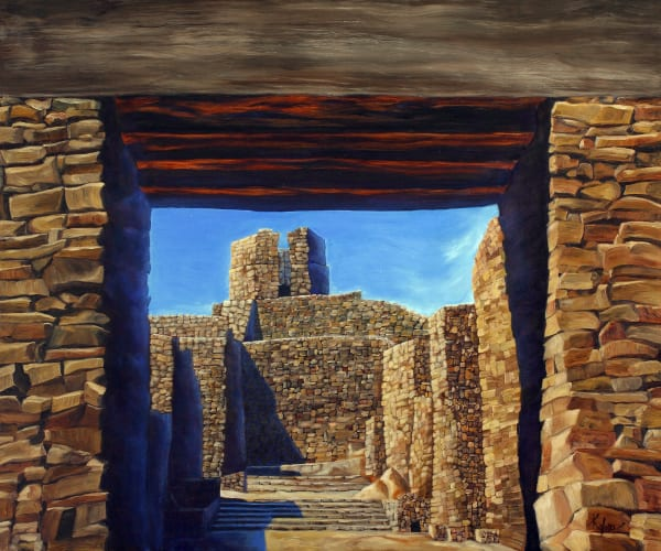 Rock, Wind and Sky-southwest-painting-print-s