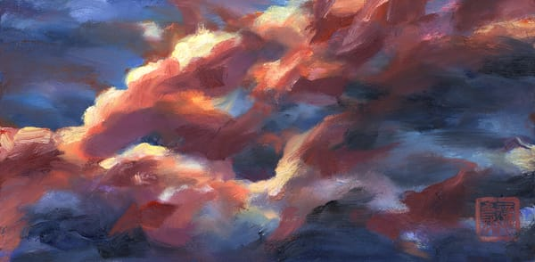 Arizona monsoon evening cloud study, by Prescott artist Ans Taylor
