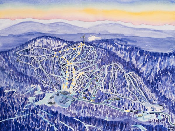 Bolton Valley Night Skiing Art for Sale
