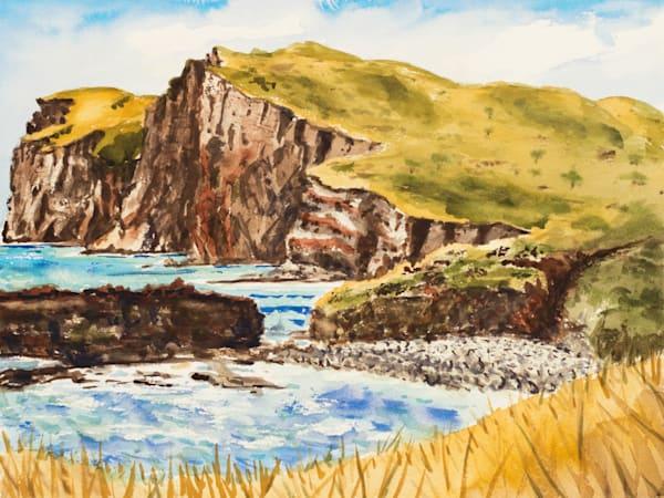 Kaunolu Cliff Painting for Sale