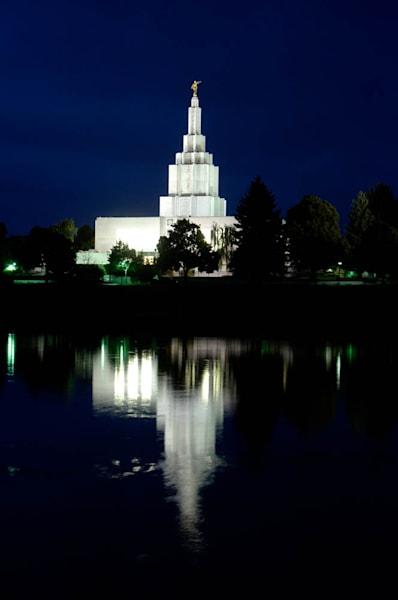 Idaho Falls Temple - Night Reflections