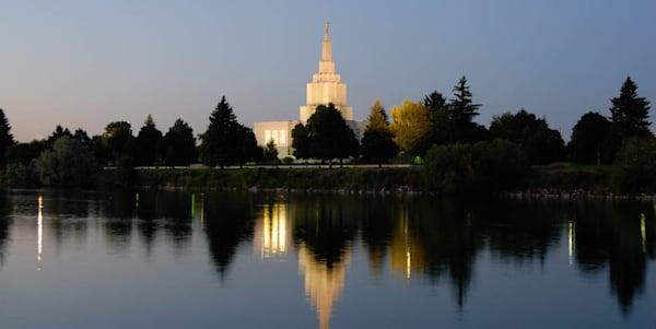 Idaho Falls Temple - Panoramic Reflections