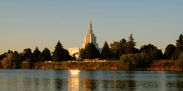 Idaho Falls Temple - Panoramic by Day