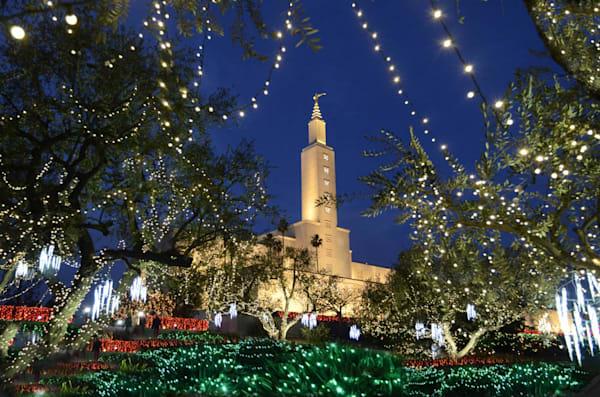 Los Angeles Temple - Christmas Lights
