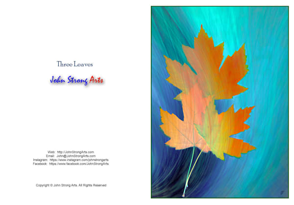 Leaves fine art card