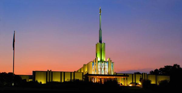 Atlanta Temple - Panoramic Sunset Sky