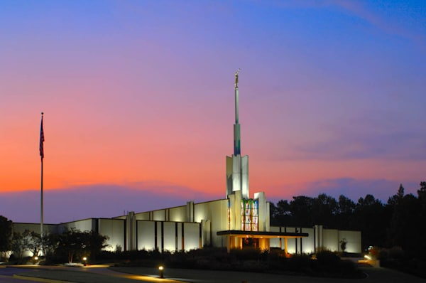 Atlanta Temple - Sunset Sky