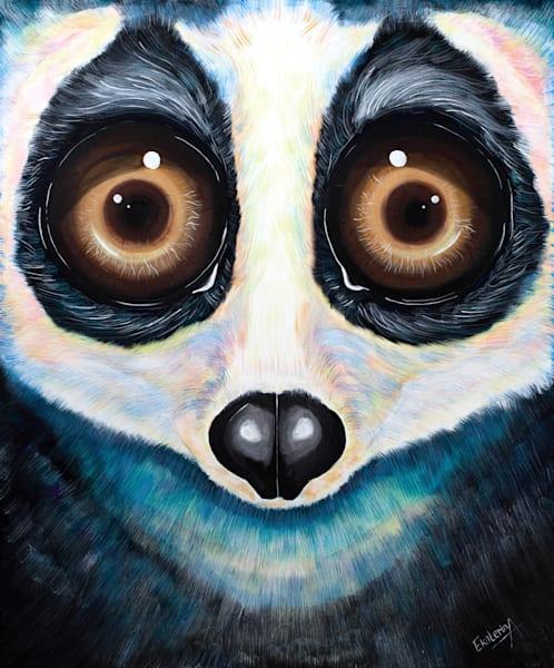 Slow loris acrylic  painting