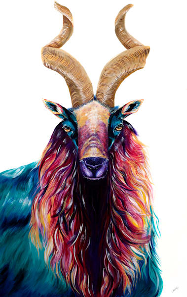 Goat Print Animalize Collection Painting by Ekaterina Sky