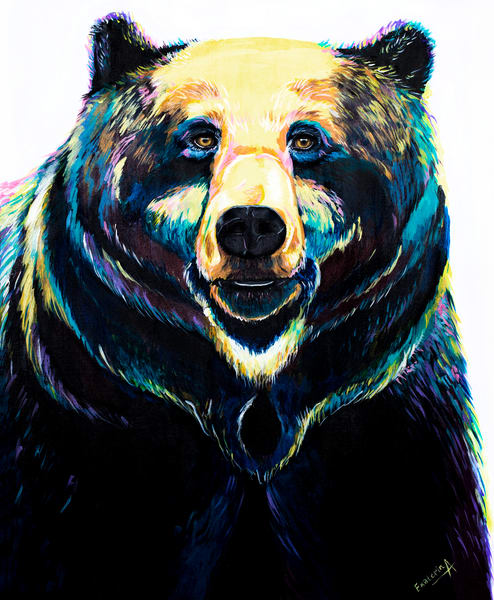 Animalize Colorful Bear Painting Print