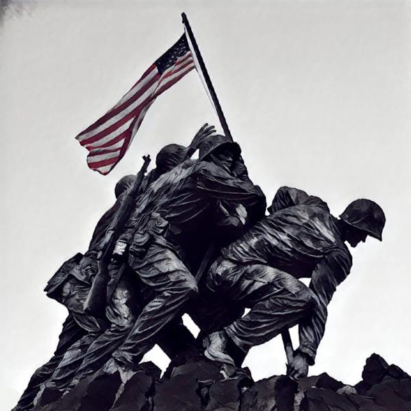 Iwo Jima Memorial Art | BBrom ART