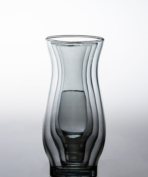 Fine art photographs of Drinking Glasses Reflections by Michael Pucciarelli.