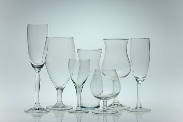 A Fine Art Photograph of Wine Glass Collections by Michael Pucciarelli