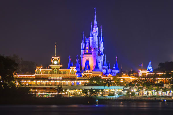 Magic Kingdom at Night TTC - Disney Wall Art | William Drew